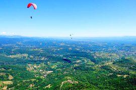 Vue Ardèche en parapente