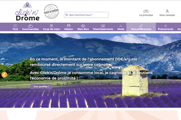 Click'n'Drome, la boutique en ligne des produits Drômois